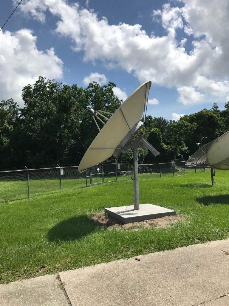 Commercial Satellite System Installation: 3.8m DH Antenna Dish installed - Christian TV Network