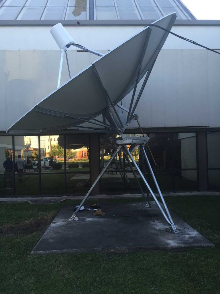 Commercial Satellite Dish Installation: 5m SES Dish for Fox 8 (2017)