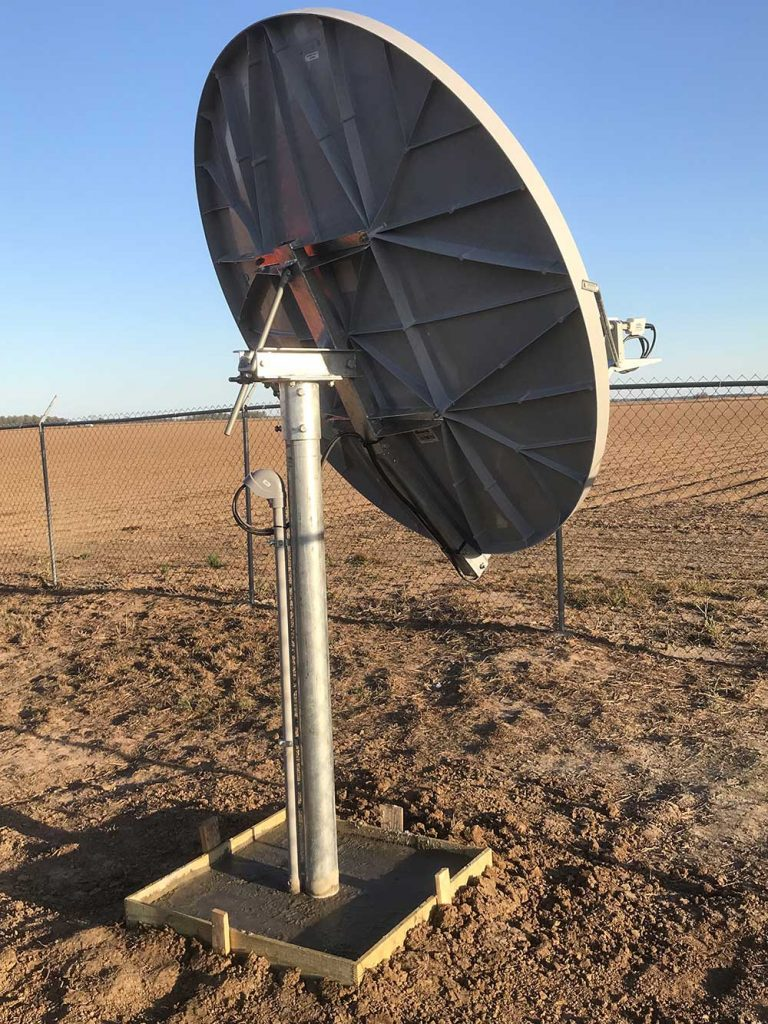 Commercial Satellite System Installation: VSAT installs in Mississippi for national radio network