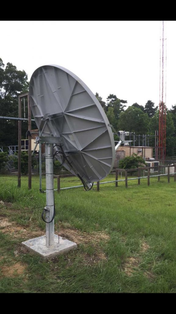 Commercial Satellite System Installation: 2.4m VSAT Systems for national radio network - Louisiana and Mississippi