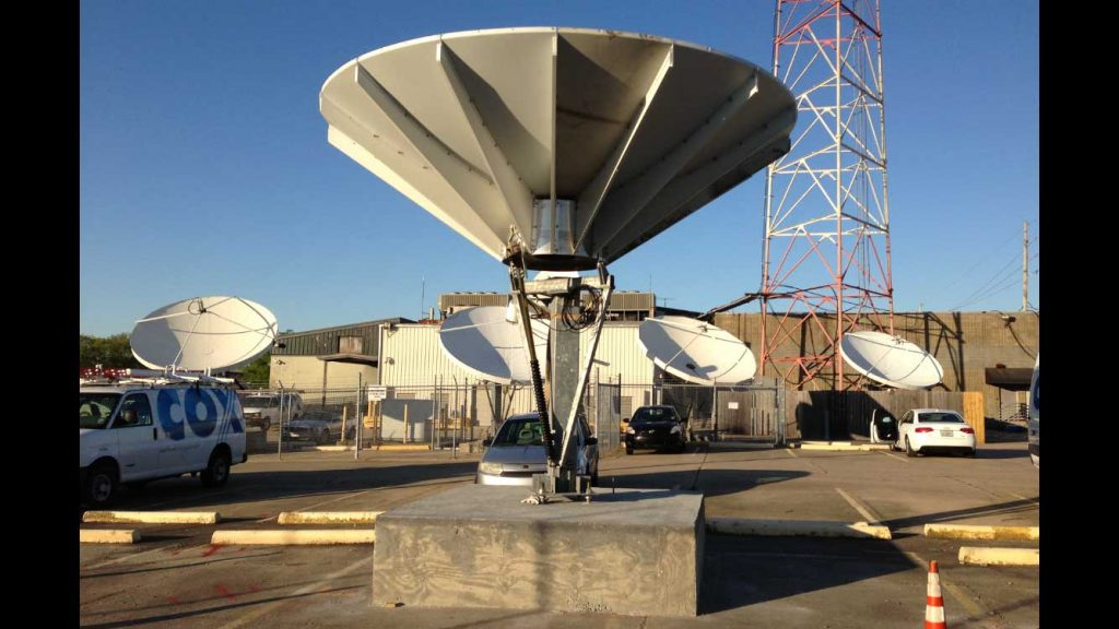 Commercial Satellite Dish Installation: 4.5m Patriot dishes and foundations for Cox Sports Television - New Orleans